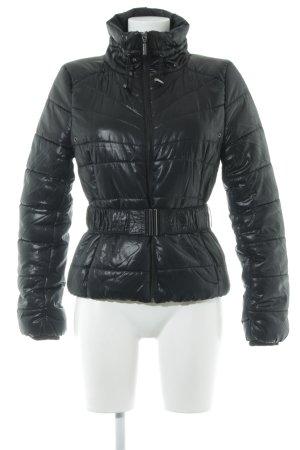 H&M Veste d'extérieur noir motif de courtepointe style décontracté