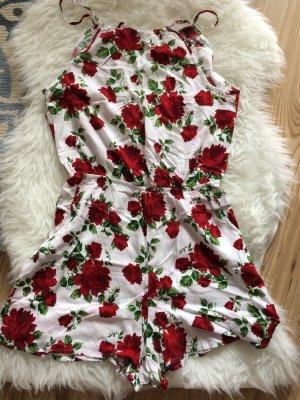 H&M Overall 38 M neu Blumen Flowers Sommer Rosen