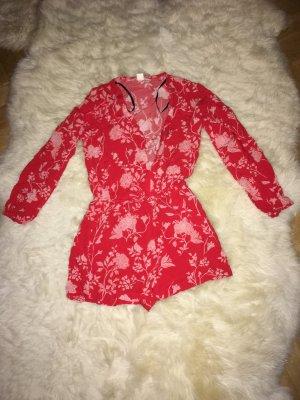 H&M Tuta rosso mattone-rosa chiaro