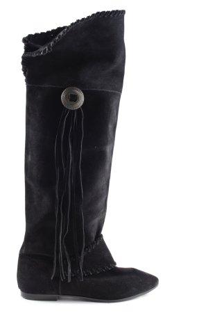 H&M Overknees schwarz Casual-Look