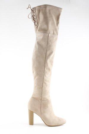 H&M Botas sobre la rodilla beige look nude
