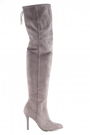 H&M Botas sobre la rodilla gris estilo fiesta