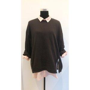 H&M oversize Bluse Rose 42 44 46 Basic Baumwoll Hemdbluse NEU Büro Style