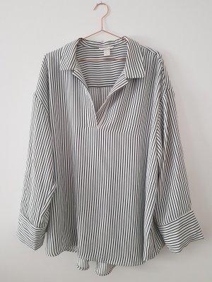 h&m oversize Bluse Streifen schwarz/weiss XL/44