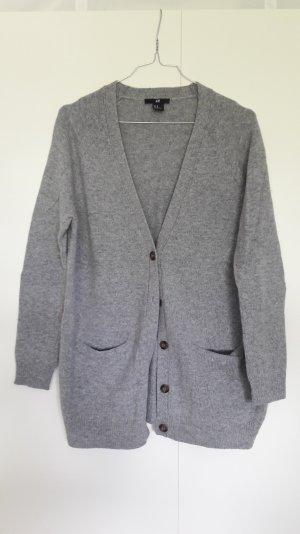 H&M Oversize Cardigan grau meliert Gr. XS
