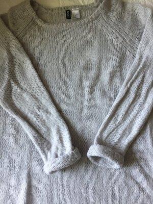 H&M Oversize Pullover - hellgrau - Größe S - wie NEU!