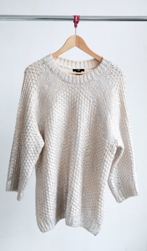 H&M Oversize Pullover im Metallic Look