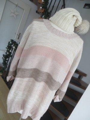 H&M Oversize Pullover Streifen nude Gr. M 38 40