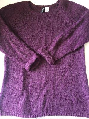 H&M Oversize Pullover - weinrot - Größe S - wie NEU!