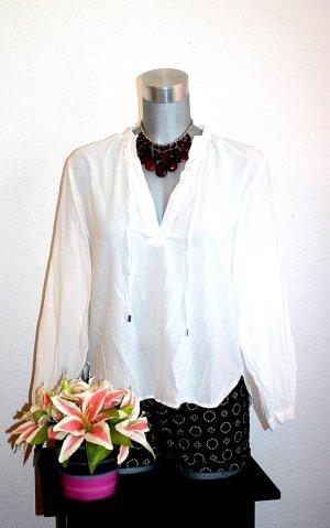 H&M Blusa con lazo blanco