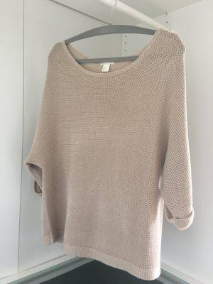 H&M Oversize Shirt Pullover beige Gr. S