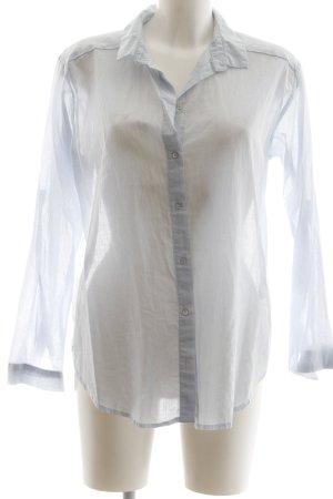 H&M Blusa ancha blanco-azul neón estampado repetido sobre toda la superficie