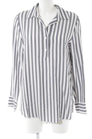 H&M Blusa ancha gris claro-blanco estampado a rayas look casual