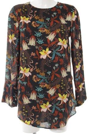 H&M Oversized blouse zwart-neongeel casual uitstraling