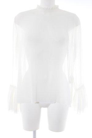 H&M Oversized Bluse weiß schlichter Stil