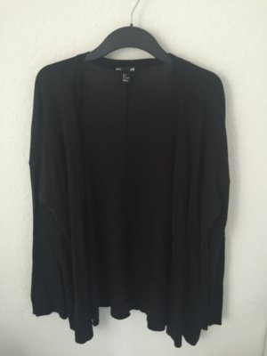 H&M oversized Cradigan Schwarz