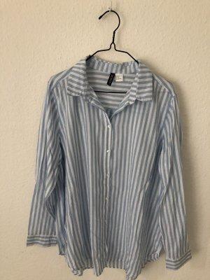 H&M oversized Hemd gestreift