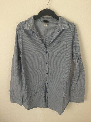 H&M oversized Hemd gestreift Blau Weiß