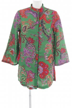 H&M Oversized Jacke grün-rot Mustermix extravaganter Stil