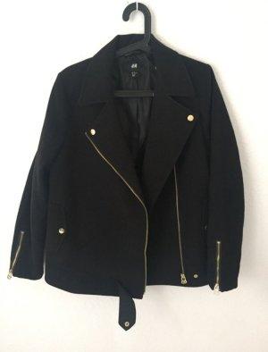 H&M oversized Jacke im Bikerstil