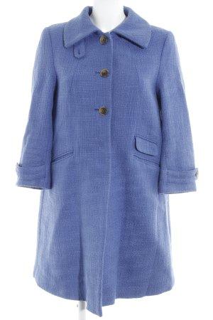 H&M Oversized Mantel stahlblau Struktur-Optik