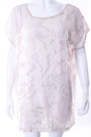 H&M Oversized Netzshirt altrosa