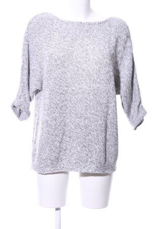 H&M Pull oversize gris clair moucheté style décontracté