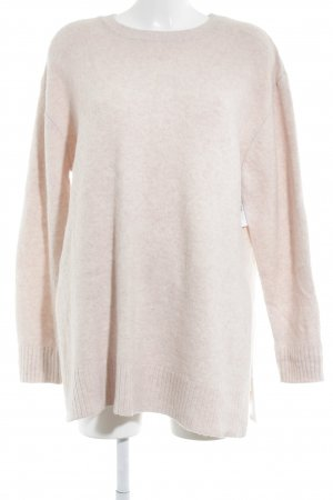 H&M Oversized Pullover altrosa-rosa meliert Casual-Look