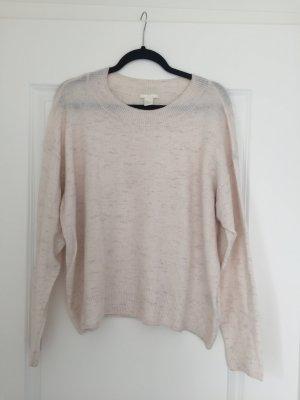 H&M oversized Pullover Beige meliert
