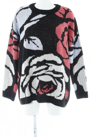 H&M Oversized Pullover Blumenmuster Casual-Look