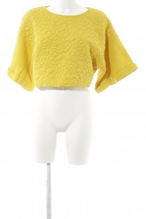 H&M Oversized Sweater dark yellow abstract pattern casual look