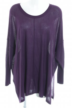 H&M Oversized Pullover dunkelviolett Casual-Look