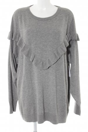 H&M Oversized Pullover grau meliert Casual-Look