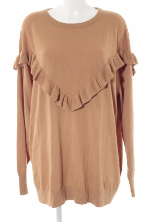 H&M Oversized Pullover hellbraun Casual-Look