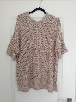 H&M Oversized Pullover kurzarm Beige