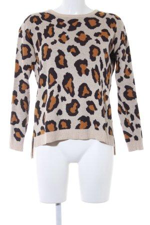 H&M Maglione oversize Stampa leopardata stile casual