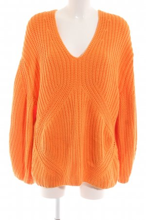 H&M Oversized Pullover neonorange Casual-Look