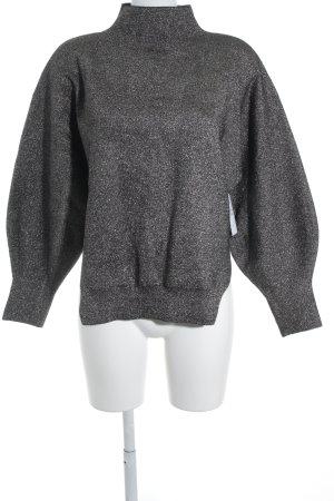 H&M Oversized trui zwart-zilver minimalistische stijl