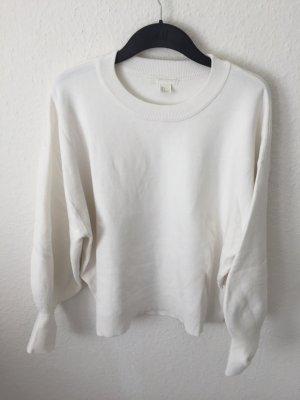 H&M oversized Pullover Weiß