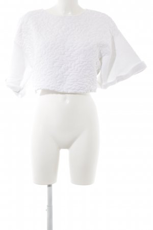 H&M Oversized Sweater white abstract pattern casual look