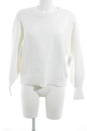 H&M Oversized Pullover weiß minimalistischer Stil
