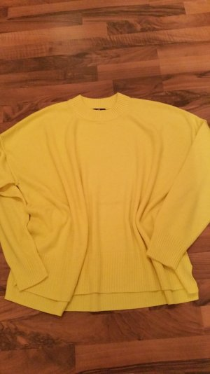 H&M Oversized Pullover zitronen gelb langarm