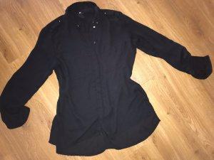 H&M Oversized schwarze Bluse Tunika Gr.XS 34 36 top Shirt