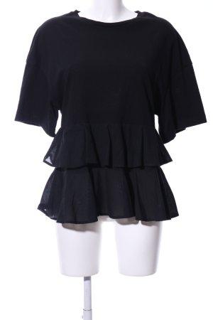 H&M Oversized shirt zwart casual uitstraling
