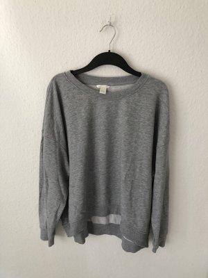 H&M oversized Sweatshirt Hellgrau