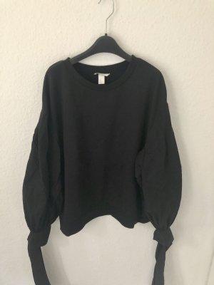 H&M oversized Sweatshirt Schwarz