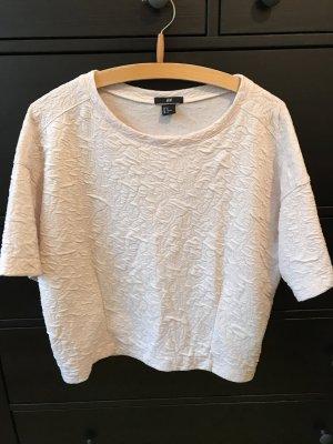 H&M Oversized T-Shirt 38 M Creme beige