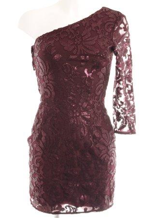 H&M Abito con paillettes rosso mora motivo floreale elegante