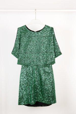 H&M Pailettenkleid grün