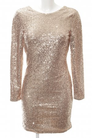 H&M Jurk met pailletten nude glitter-achtig